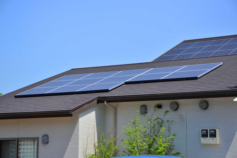 住宅の屋根への設置イメージ